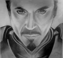 Iron Man Black and White by MatthewNicOsborn