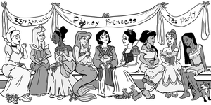 Disney Princess Tea Party by sebamoya1