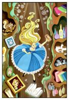 Alice falling into the rabbit hole by snuapril01