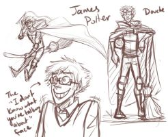 Marauder Doodles: James Potter by Fuon-Shiheki