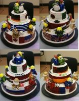 Hetalia Cake . All Sides by lunarex15