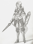 Elven Warrior by AxisEnigma