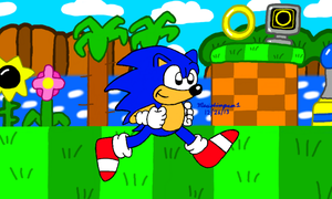 Sonic at Green Hill Zone by MarioSimpson1