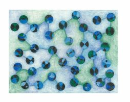 Blue Dots by AllysonArtwork