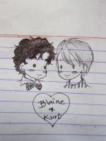 Klaine doodle by lostinmylife1506