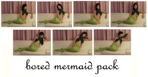 bored mermaid pack by syccas-stock