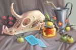 stilllife and pickled plum fairy by Bard-the-zombie