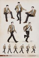 Man 1960s  Dynamic poses. by javieralcalde