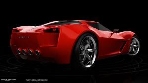 Corvette Stingray - back by adit1001
