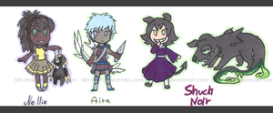 Nellie, Aira and Shucki Chibis by Nin-Wolf