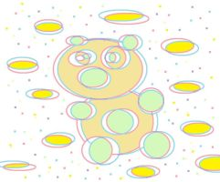 3-D Bubble Bear by AVRICCI