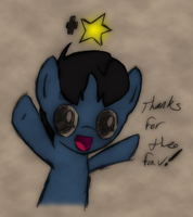 THANKS FOR THE FAVS, EVERYPONY~ by MidnyteSketch