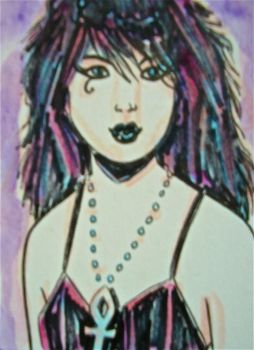 DEATH SKETCH CARD by siriguana
