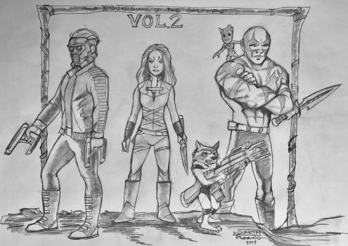Guardians of the Galaxy Vol 2 by kennf11