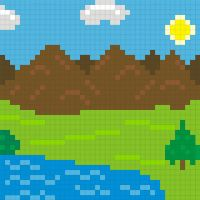 Pixle Mountain by CizreK