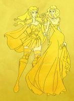 Golden Ladies of Asgard by darkelf19