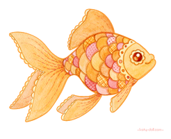 Patchwork goldfish by Katy-Doll