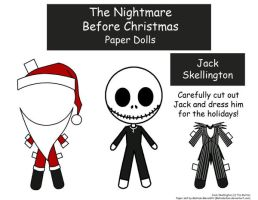 Jack Skellington Paper Doll by Malindachan