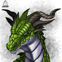 Green Dragon by badfatdragon
