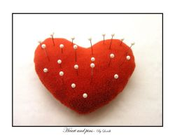 Heart and pins by lexidh