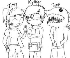 Rythian, Zoey and Teep by PenelopeXdg