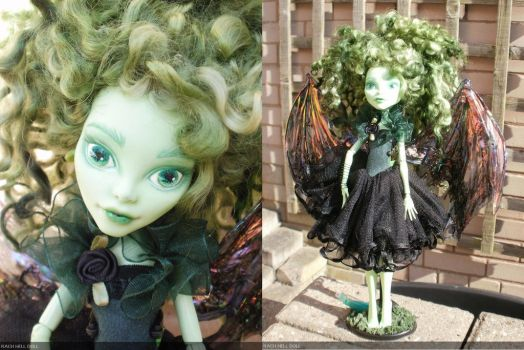 monster high custom repaint gothic fairy by Rach-Hells-Dollhaus