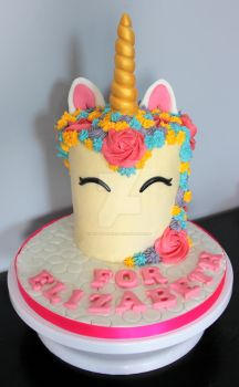 Colourful Unicorn Cake by KirstysCakes