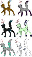 Adoptables! ALL TAKEN by Ambercatchan