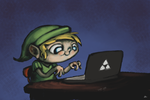 Link on a Laptop by DocWario