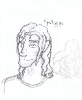 Agallochum sketch by WhiteAkitaPainter