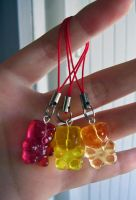 gummy bear phone charms by Tadadada