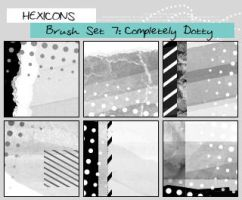 Completely Dotty Brushes by thewakeofsaturday