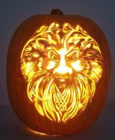 Bearded Green Man by pumpkinsbylisa