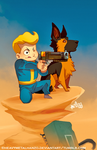 The Adventures of Vault Boy and Dogmeat by HeavyMetalHanzo