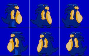fat sonic sprite by icethehedgehog11