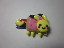 Polymer Clay Pikachu Nyan Cat by Darklunax110