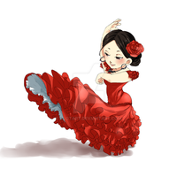[Commission] Flamenco Girl by clgtart