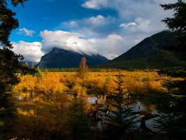 Vermilion Lakes with color by Millsy1