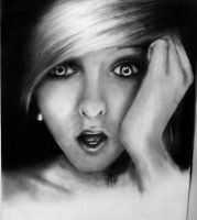 Shocked Girl Pencil drawing by tori201