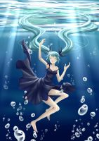 Deep Sea Miku by Villyane