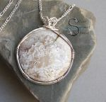Crazy Lace Agate Pendant by PurlyZig
