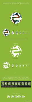 FREE WorldCup Brasil 2014 Ball Icon by MarinaD