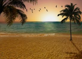 Background Beach premade by ayumidany14
