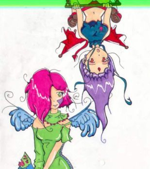 colored mirky and popple by mielaeh