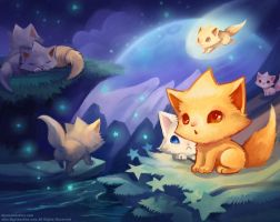 Kitten Star land by ethe