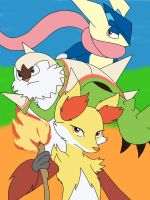 Kalos Starters by songthedemonpuppy