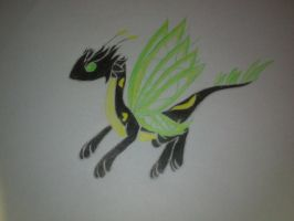 Moon Butterfly dragon (neon): Psion by minecraftmobs456