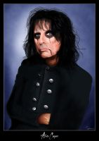 Portrait - Alice Cooper by sibx