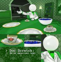 Scratch: Be an excellent host. by myluckyseven