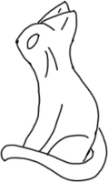 Sitting cat lineart free by Kitty61553